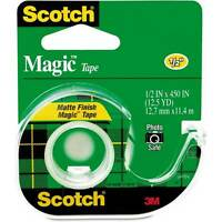 Scotch Magic Tape 104 + Handheld Dispenser,new, 2 Rolls ,lowest Price, Free S/h