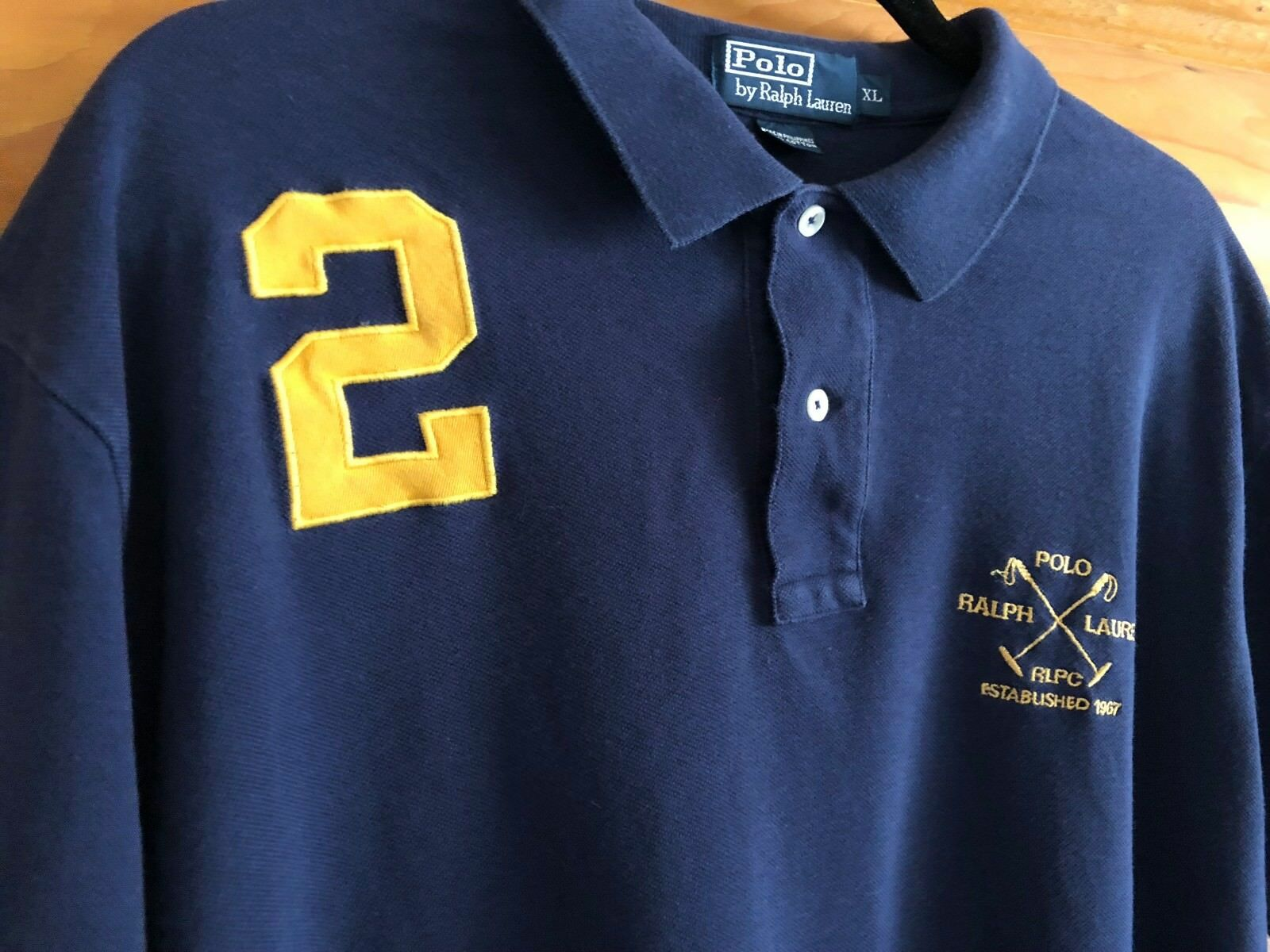 Ralph Lauren bluee Label Rugby Embroidered Polo Shirt Men's Size XL XLarge