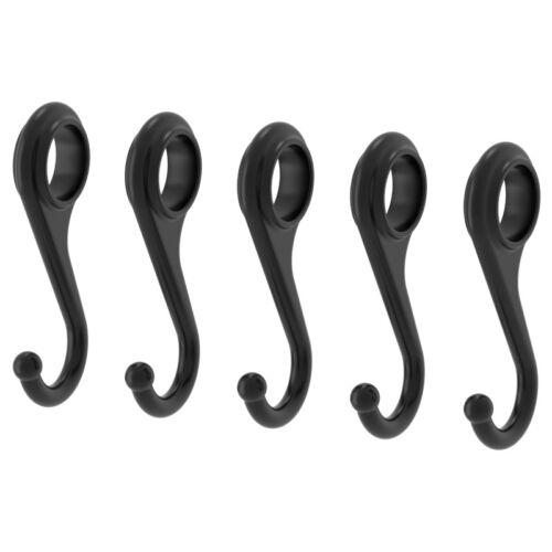 ; 5 Stück IKEA FINTORP Haken für Küchenutensilien; in schwarz; 7cm