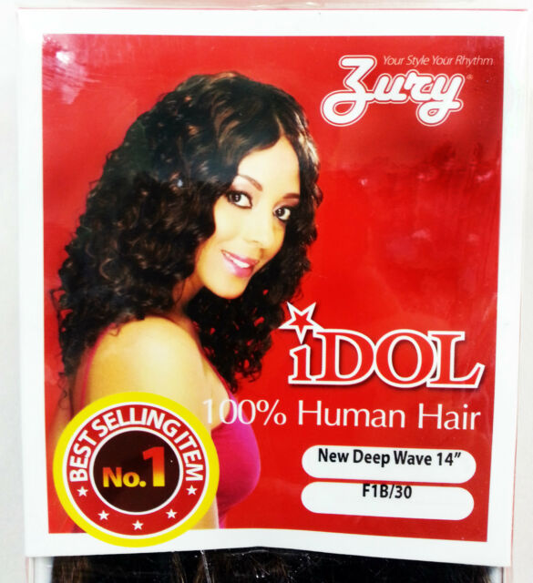 Zury Idol Deep Wave 100 Human Hair Weave Extension 2 Brown 10 Inches