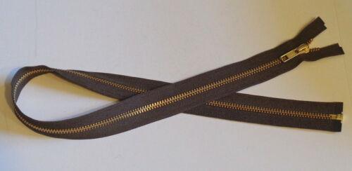 26 inch Medium Dark Brown /& Brass #5 Separating YKK Zipper New!