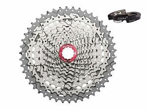 Sunrace-10-speed-11-46T-cassette-CSMX3-wide-ratio-MTB-in-Silver-with-rd-extender