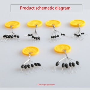 10pcs-6-in-1-Rubber-Oval-Stopper-Fishing-Bobber-Float-Connector-Fishing-Tackle