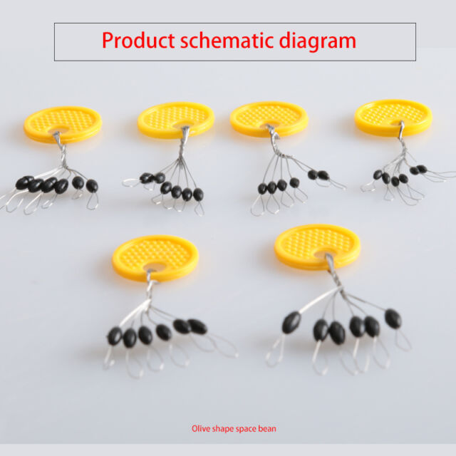 s l640 10pcs lot 6 in 1 rubber oval stopper fishing bobber float connector