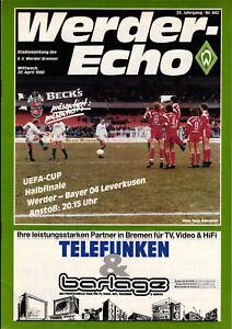 EC-III-Semi-Final-87-88-SV-Werder-Bremen-Bayer-04-Leverkusen-20-04-1988