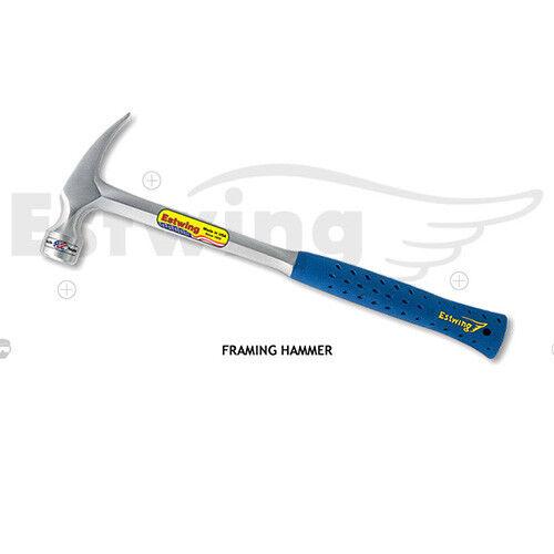 ESTWING SOLID STEEL FRAMING HAMMER LONGER HANDLE SMOOTH FACE 22 OZ//616 G E3//22SR