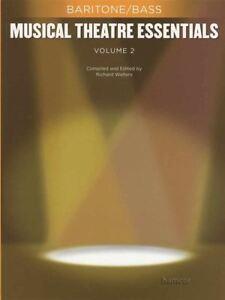 Théâtre Musical Essentials Volume 2 Baryton Basse Vocal Sheet Music Book Only-afficher Le Titre D'origine