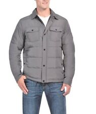 NEW 32 Degrees Heat Men's Down Shirt Jacket Cloud Cover Melange Grey 2XL XXL