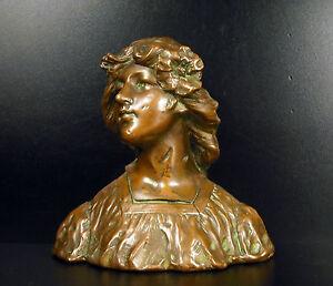 Gustave VAN VAERENBERGH Buste art nouveau 1900 offert par le Maire de Laval
