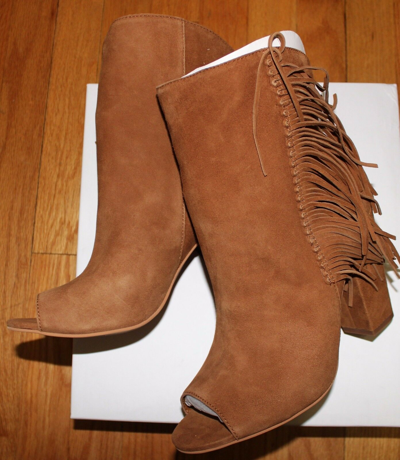 180 DOLCE VITA MAZARINE DARK SADDLE SUEDE BOOT SZ 10M