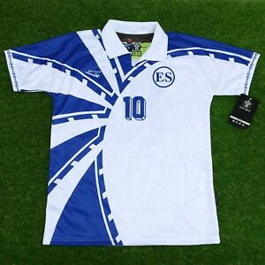 the best attitude 9614b f9402 Details about El Salvador, Men's Retro Soccer Jersey. WHITE 1997