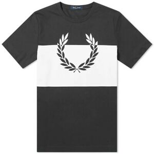 Fred-Perry-Authentic-Printed-Laurel-Tee-Black