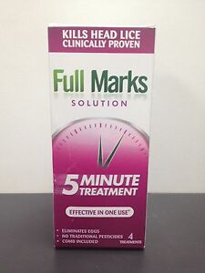 FULL MARKS SOLUTION 4 TREATMENTS FOR HEAD LICE - 200ML | eBay