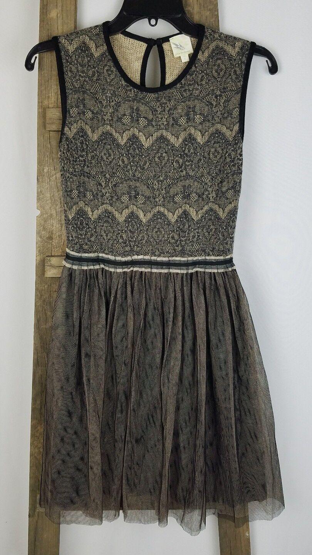 Weston Wear Anthropologie women S lace dress Dulcie tulle pointelle sleeveless