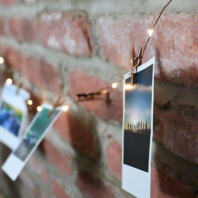 Disciplinato 2m Batteria Indoor Filo Di Rame Firefly Led Lucine Con Oro Rosa Foto Esegue Il Pegging-mostra Il Titolo Originale Dolcezza Gradevole