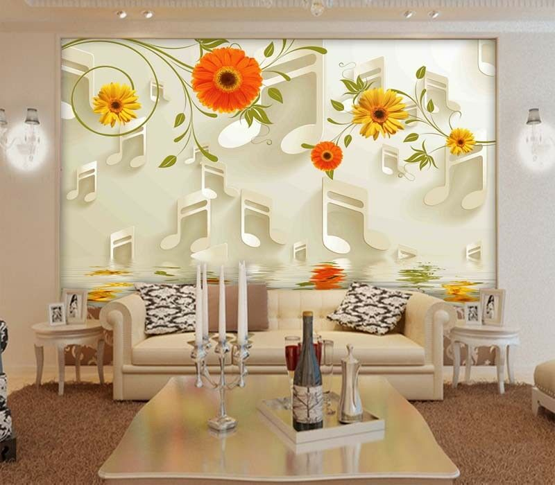 Farbeful Music Note 3D Full Wall Mural Photo Wallpaper Printing Home Kids Decor