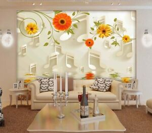 Image Is Loading Colorful Music Note 3D Full Wall Mural Photo