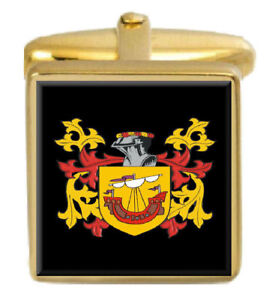 Algar Angleterre Famille Cimier Nom De Armoiries Or Boutons Manchette Gravé Adyo8yrn-08012921-262293920