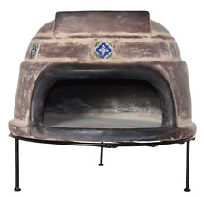 Outdoor Pizza Oven Kit Wood Fired Grill Clay Tile Stove Patio Dining Cooker Set