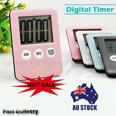Mini Digital Electronic Kitchen Cook Alarm Magnetic Countdown Timer LCD Display