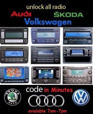 VW radio unlock code ***  REALLY FAST  *** REALLY FAST *** REALLY FAST ***