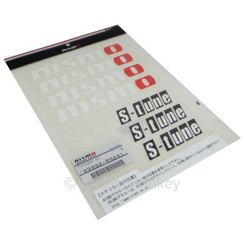 Nismo S-Tune Decal Sheet White  Decals Stickers Genuine JDM OEM