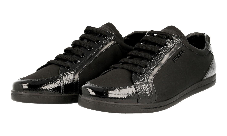 19bc40d8bcae Luxe Prada Saffiano Sneaker Chaussures 3e5892 neuf NOIR neuf 3e5892 NEW 39  39,5 35fff3
