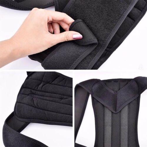 Soporte de Espalda y Columna Lumbar Ajustable Faja Cinturon Corrector de Postura