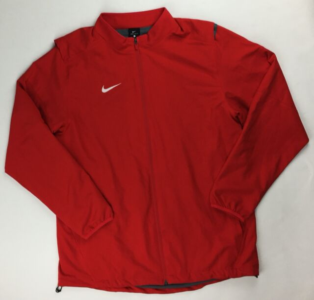 Obediencia lluvia Adelante  Nike Dry Jacket Full Zip Mesh Liner Red Training Men's Large Dri-Fit 897025  for sale online