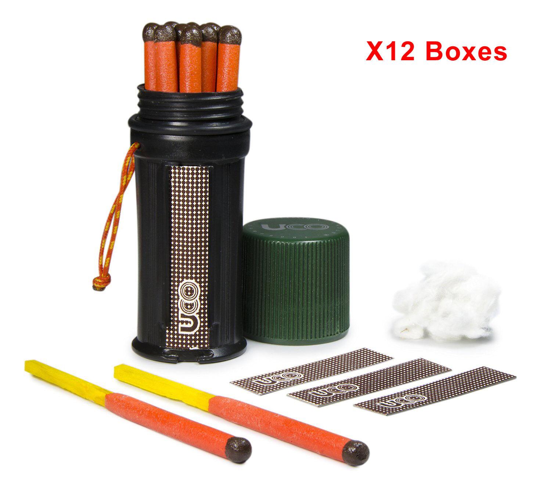 UCO Titan Stormproof Matches Kit Waterproof Case 12pcs X12 Boxes = 144pcs