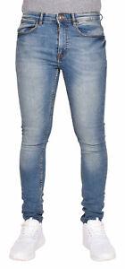 Mens-Denim-Super-Stretch-Skinny-Slim-Fit-Jeans-Trousers-Pants-All-Waist-Sizes