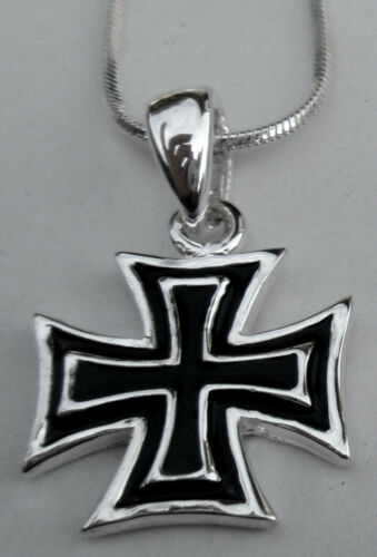 """STEEL IRON CROSS PENDANT WITH 16/"""" CHAIN NECKLACE"""