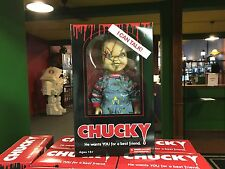 "2015 Mezco Child's Play Bride Of Chucky Scarred Talking Doll 15"" Inch Figure MIB"