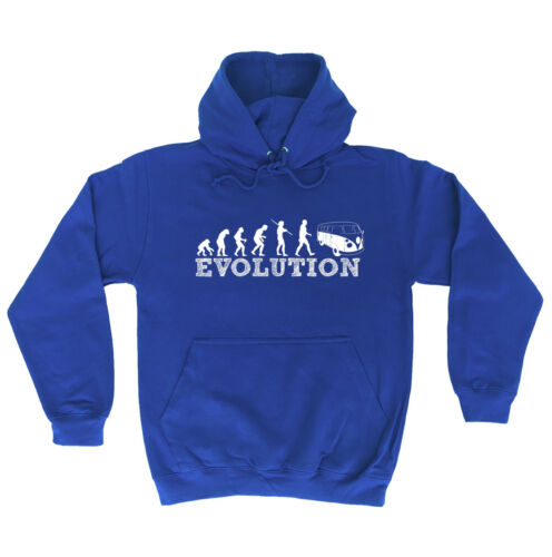 EVOLUTION CAMPER HOODIE hoody hippie funny birthday gift present for him her