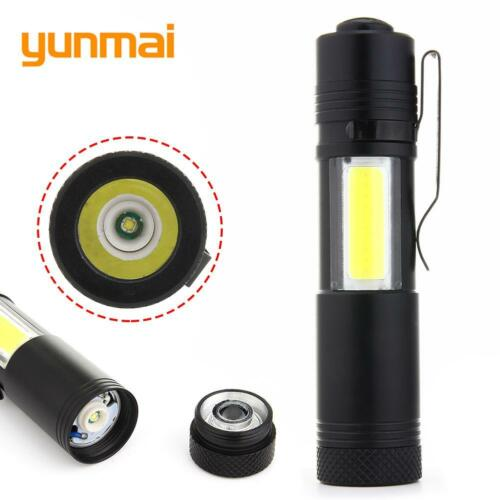 20000LM  XPE Q5 COB LED Flashlight 4 modes Pocket Clip Torch Light BE