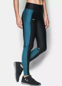 d33579f4b95754 Under Armour Fly-By Women's Large Leggings Yoga Pants Black /Bayou ...