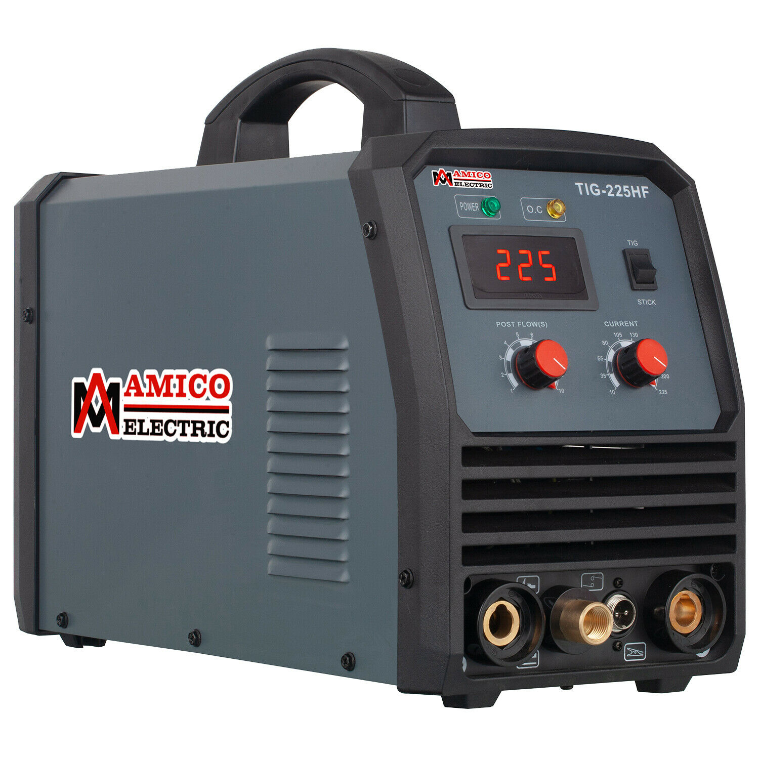 Amico TIG-225HF, 225 Amp HF-TIG Arc Stick Combo Welder, 100-250V, 80% Duty Cycle. Buy it now for 359.00