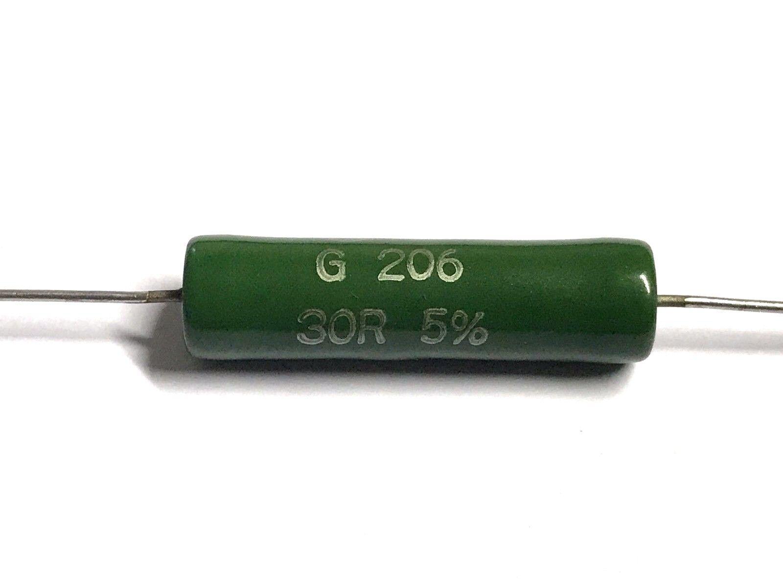 500V Drahtwiderstand 5/% 30R G26093333009JLA000  4 Stück glasiert 30Ohm 13W