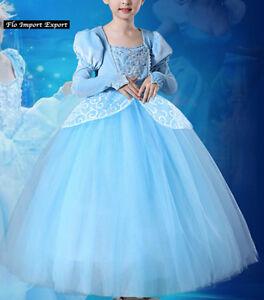 Dettagli su Cenerentola Vestito Carnevale Dress up Cinderella Cosplay Costume Dress 567031