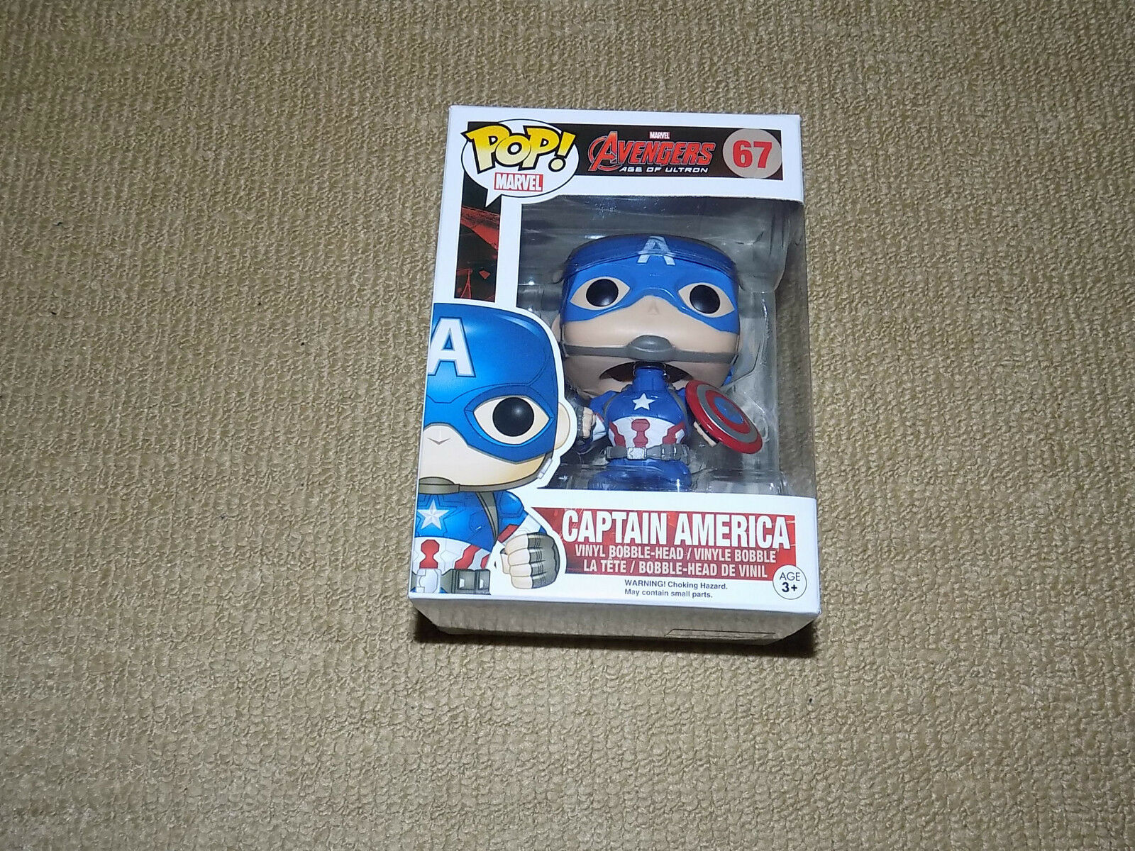 FUNKO POP CAPTAIN AMERICA, VAULTED AVENGERS AGE OF ULTRON, MARVEL FIGURE, NM