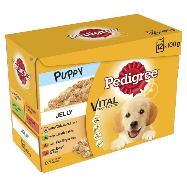 Pedigree Jelly Puppy Food Pouches 100g