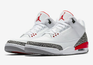 Details about 2018 Air Jordan Retro 3 Katrina Fire Red Cement 136064-116  Men size 7-15