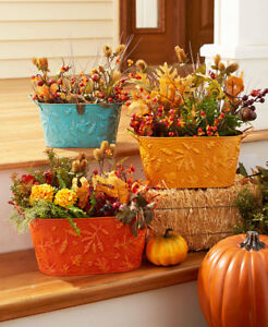 Fall Autumn Planters Thanksgiving Decorations Harvest Decor Gift
