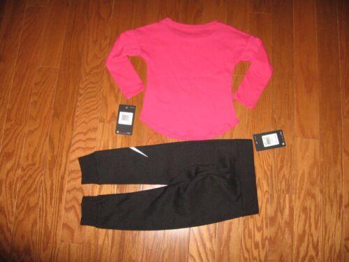 Nike 2 Pc Set long sleeve Shirt /& Jogger pants Girls  2T// 3T //4T NWT