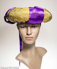 Turban Gold & Purple Poly Satin Sultan Headpiece Theatrical Costume Hat