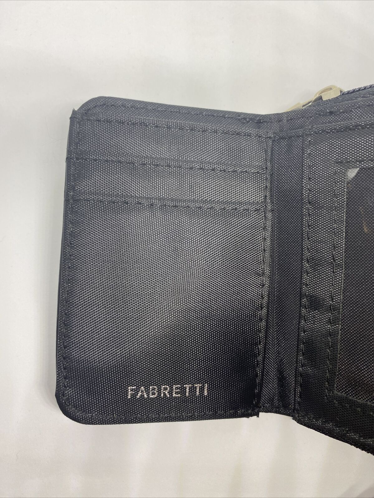 Fabretti Ladies Girls Faux Leather Purse /Black Wallet with Dog Heart Pink