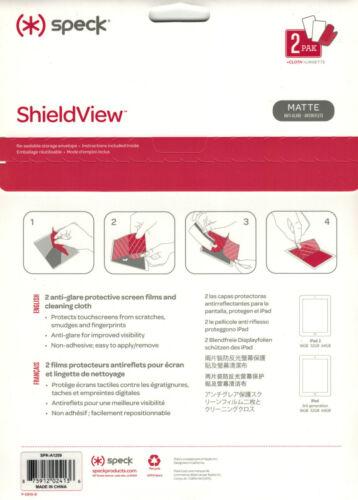 Speck Screen Protector Anti-Glare for Apple  iPad 1//2//3//4 Gen 2PK SPK-A1209