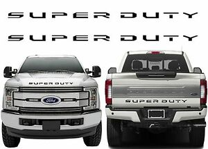ABS Plastic Red Super Duty Tailgate Letters For 2017 F-250//F-350//F-450 New