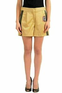 Versace-Versus-Brown-Women-039-s-Casual-Pleated-Shorts-US-XS-IT-38