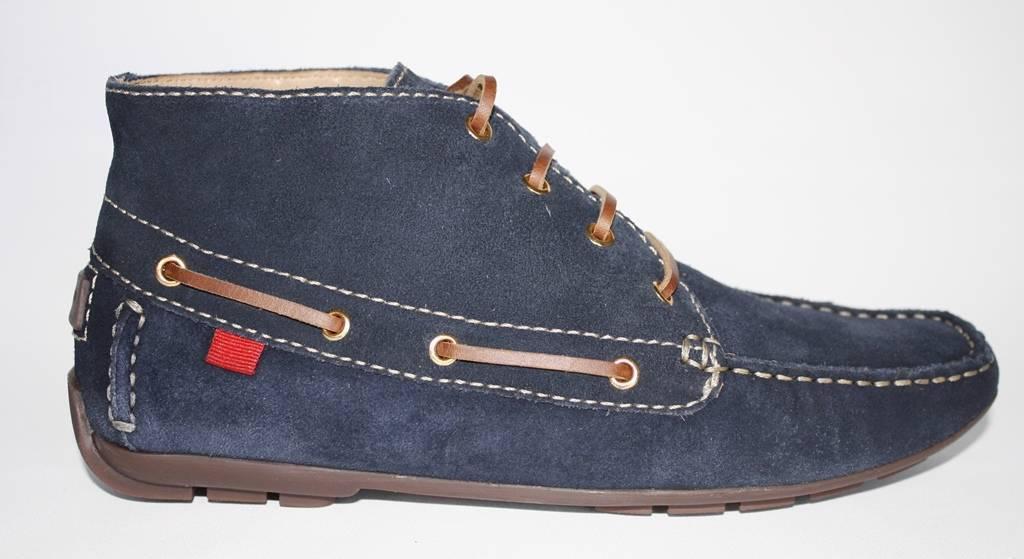 Wouomo scarpe Marc Joseph BROADWAY Driver Moccasins avvioies Ankle stivali  Navy